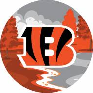 "Cincinnati Bengals 12"" Landscape Circle Sign"
