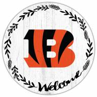 "Cincinnati Bengals 12"" Welcome Circle Sign"