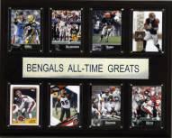 """Cincinnati Bengals 12"""" x 15"""" All-Time Greats Plaque"""