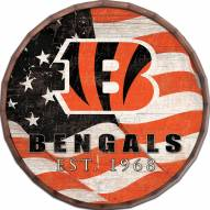 "Cincinnati Bengals 16"" Flag Barrel Top"