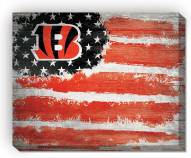 "Cincinnati Bengals 16"" x 20"" Flag Canvas Print"