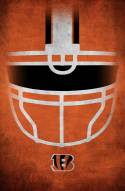 "Cincinnati Bengals 17"" x 26"" Ghost Helmet Sign"