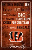 "Cincinnati Bengals 17"" x 26"" In This House Sign"