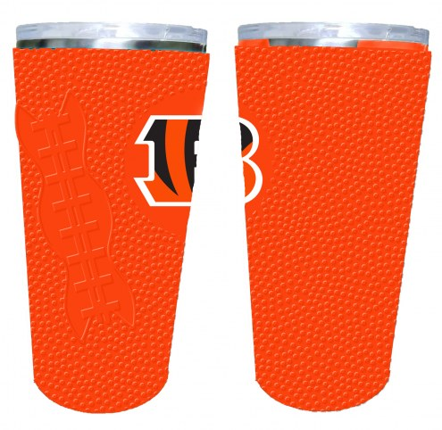 Cincinnati Bengals 20 oz. Stainless Steel Tumbler with Silicone Wrap