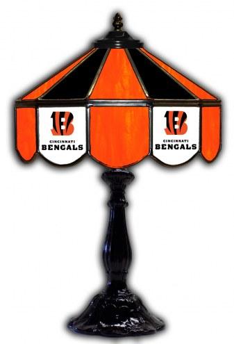 """Cincinnati Bengals 21"""" Glass Table Lamp"""