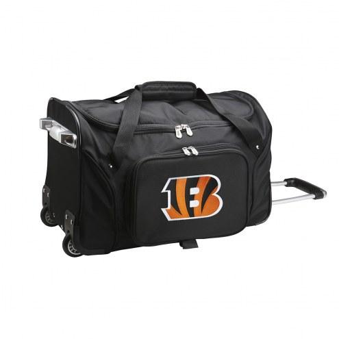 """Cincinnati Bengals 22"""" Rolling Duffle Bag"""