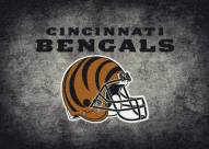 Cincinnati Bengals 4' x 6' NFL Distressed Area Rug