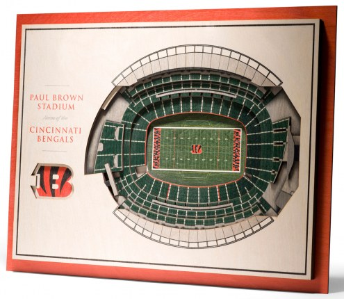 Cincinnati Bengals 5-Layer StadiumViews 3D Wall Art
