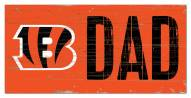 "Cincinnati Bengals 6"" x 12"" Dad Sign"