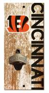 "Cincinnati Bengals 6"" x 12"" Distressed Bottle Opener"