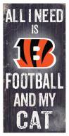 "Cincinnati Bengals 6"" x 12"" Football & My Cat Sign"