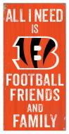 "Cincinnati Bengals 6"" x 12"" Friends & Family Sign"