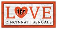 "Cincinnati Bengals 6"" x 12"" Love Sign"