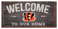 "Cincinnati Bengals 6"" x 12"" Welcome Sign"