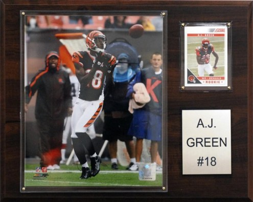 """Cincinnati Bengals A.J. Green 12 x 15"""" Player Plaque"""