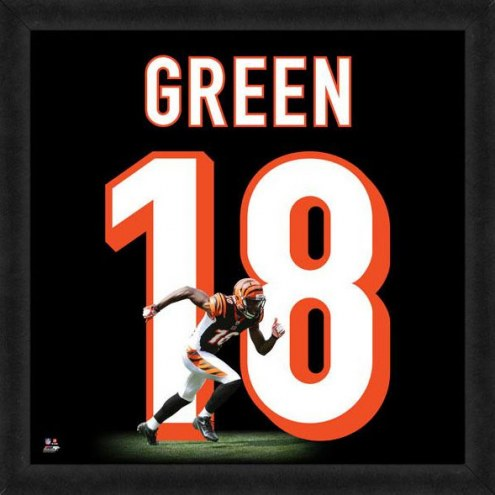 Cincinnati Bengals A.J. Green Uniframe Framed Jersey Photo