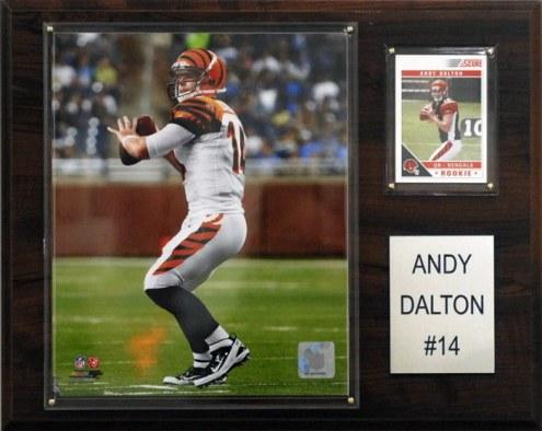 """Cincinnati Bengals Andy Dalton 12 x 15"""" Player Plaque"""