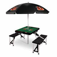 Cincinnati Bengals Black Picnic Table w/Umbrella