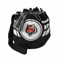 Cincinnati Bengals Black Ripple Drawstring Bucket Bag