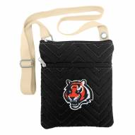 Cincinnati Bengals Chevron Stitch Crossbody Bag