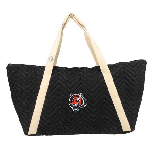 Cincinnati Bengals Chevron Stitch Weekender Bag
