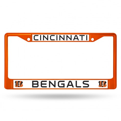 Cincinnati Bengals Colored Chrome License Plate Frame