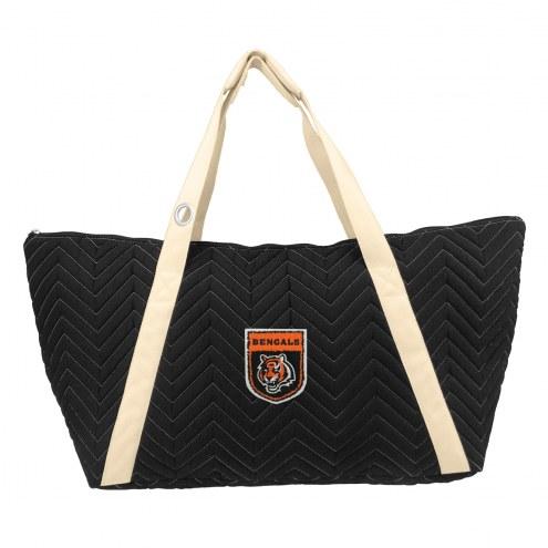 Cincinnati Bengals Crest Chevron Weekender Bag