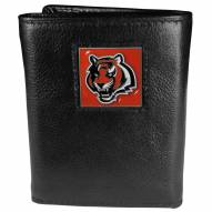 Cincinnati Bengals Deluxe Leather Tri-fold Wallet in Gift Box