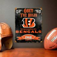 Cincinnati Bengals Embossed Metal Sign