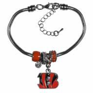 Cincinnati Bengals Euro Bead Bracelet