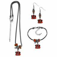 Cincinnati Bengals Euro Bead Jewelry 3 Piece Set