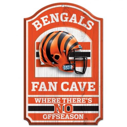 Cincinnati Bengals Fan Cave Wood Sign