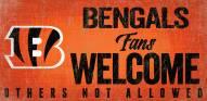 Cincinnati Bengals Fans Welcome Wood Sign
