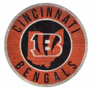 Cincinnati Bengals Round State Wood Sign