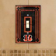 Cincinnati Bengals Glass Single Light Switch Plate Cover