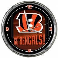 Cincinnati Bengals Go Team Chrome Clock