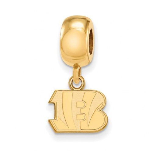 Cincinnati Bengals Sterling Silver Gold Plated Extra Small Dangle Bead Charm