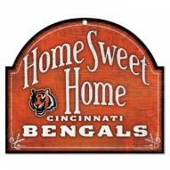 Cincinnati Bengals Home Sweet Home Arched Wood Sign