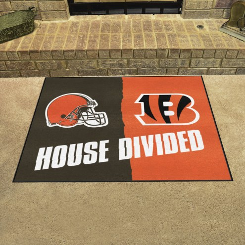 Cincinnati Bengals/Cleveland Browns House Divided Mat