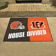 Cincinnati Bengals/Cleveland Browns House Divided Mat