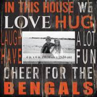 "Cincinnati Bengals In This House 10"" x 10"" Picture Frame"