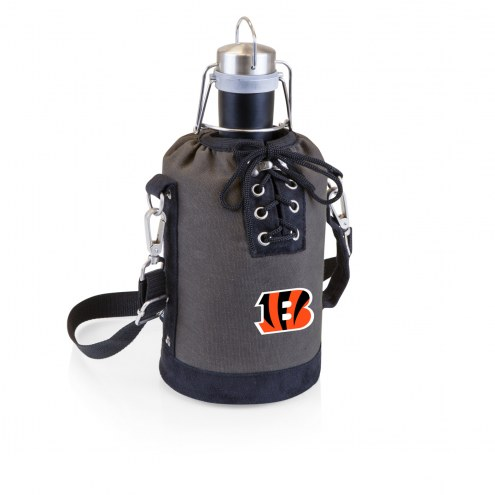 Cincinnati Bengals Insulated Growler Tote with 64 oz. Stainless Steel Growler
