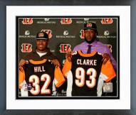 Cincinnati Bengals Jeremy Hill & Will Clarke Press Conference Framed Photo