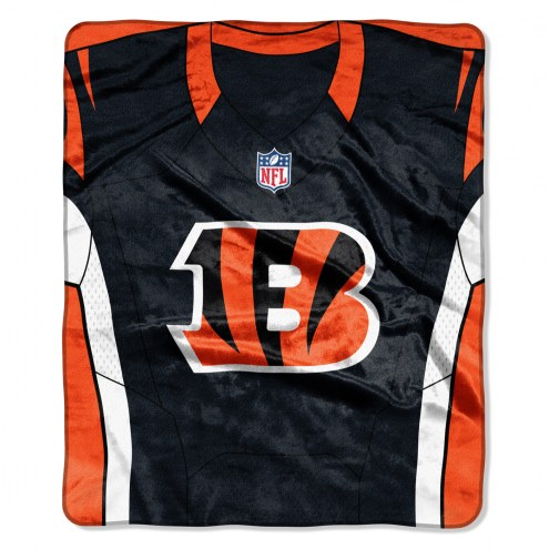 Cincinnati Bengals Jersey Raschel Throw Blanket