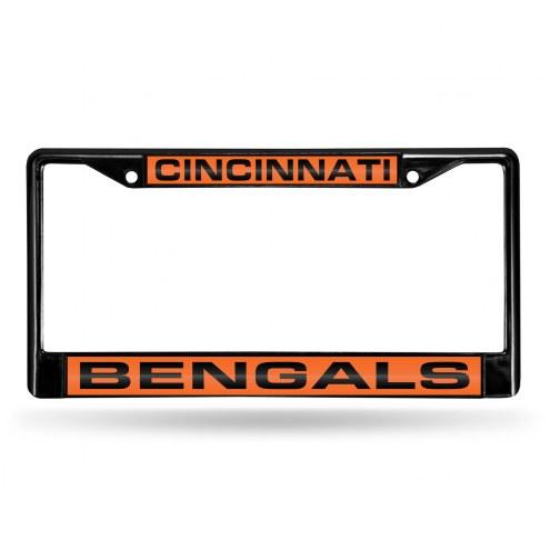 Cincinnati Bengals Laser Black License Plate Frame