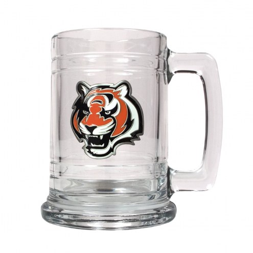 Cincinnati Bengals Logo Glass Tankard - Set of 2