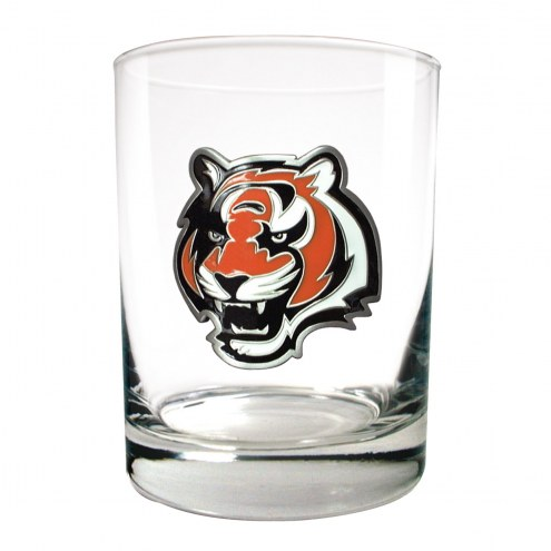 Cincinnati Bengals Logo Rocks Glass - Set of 2