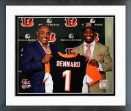 Cincinnati Bengals Marvin Lewis & Darqueze Dennard Press Conference Framed Photo