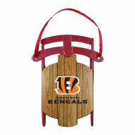 Cincinnati Bengals Metal Sled Tree Ornament