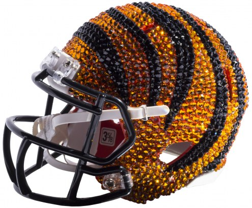 Cincinnati Bengals Mini Swarovski Crystal Football Helmet